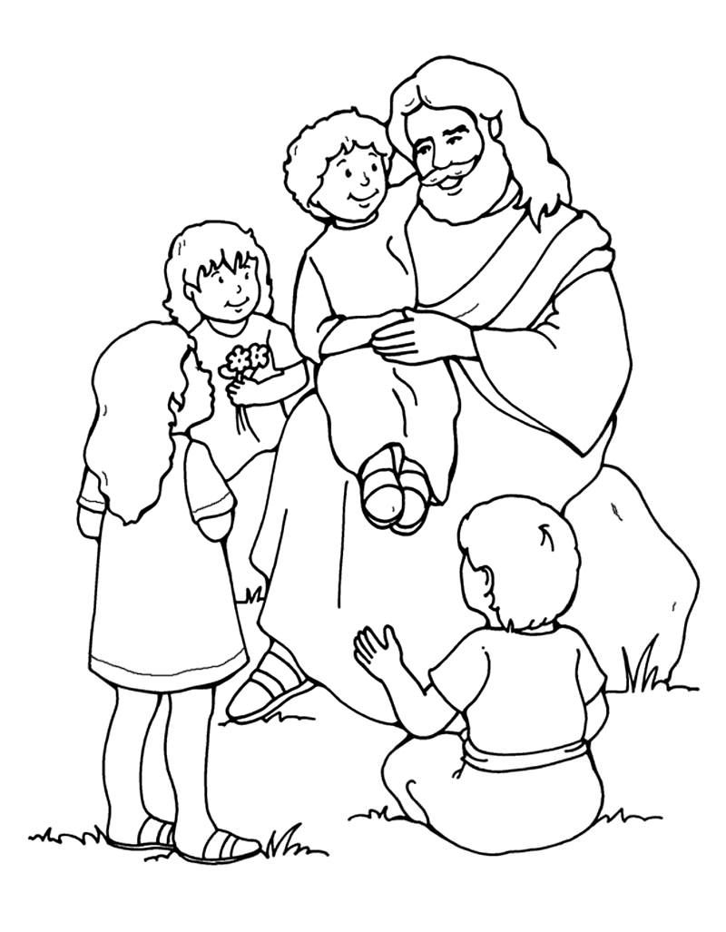 Sunday School Coloring Pages Jesus Coloring Pages Christian Coloring [ 1027 x 800 Pixel ]