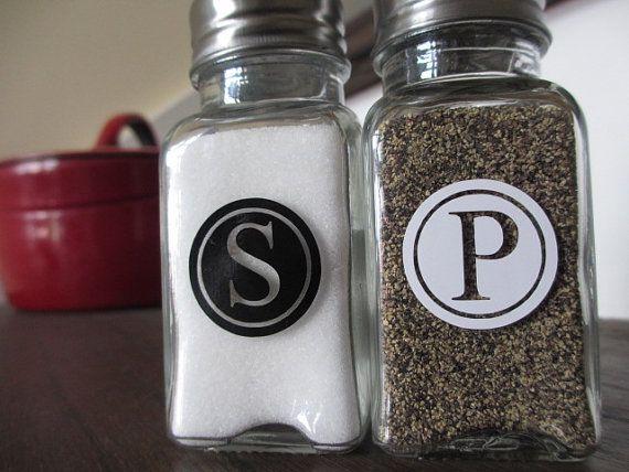 Salt Pepper Shaker Set With Custom Label By Themissionmarket