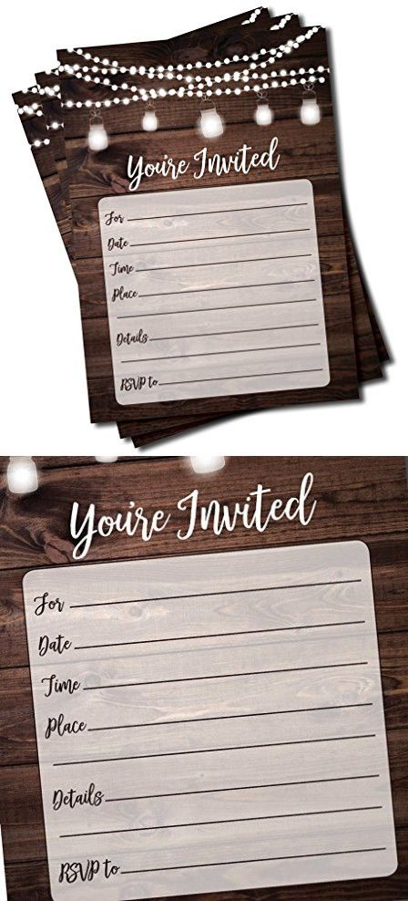 Rustic Invitations And Envelopes Large Size 5x7 Wedding