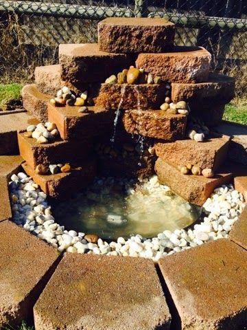 Our Little Life: DIY Backyard Brick Fountain