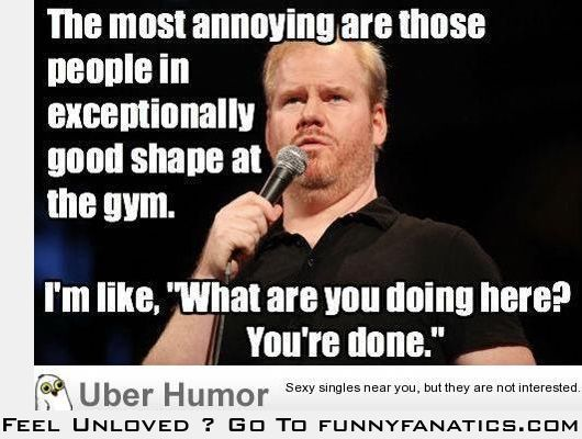 People at the gym