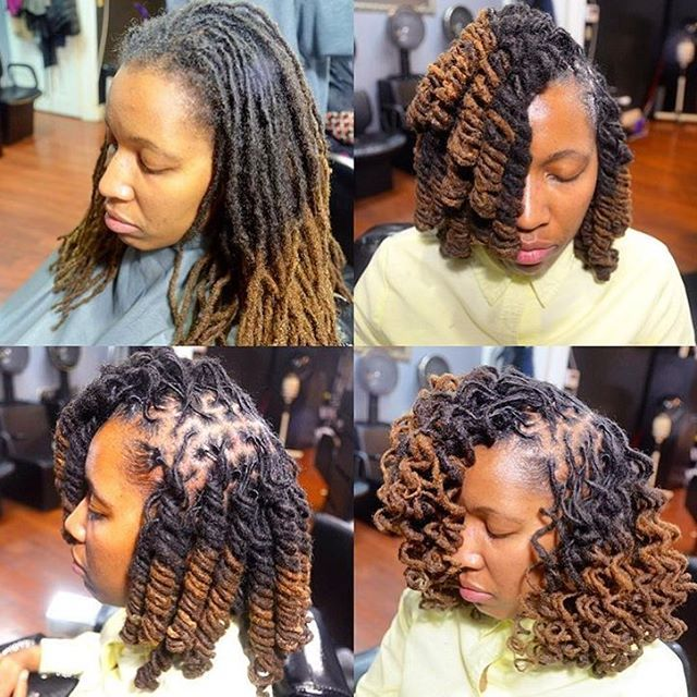 Locs Are Versatile Love This Curly Bob Created By