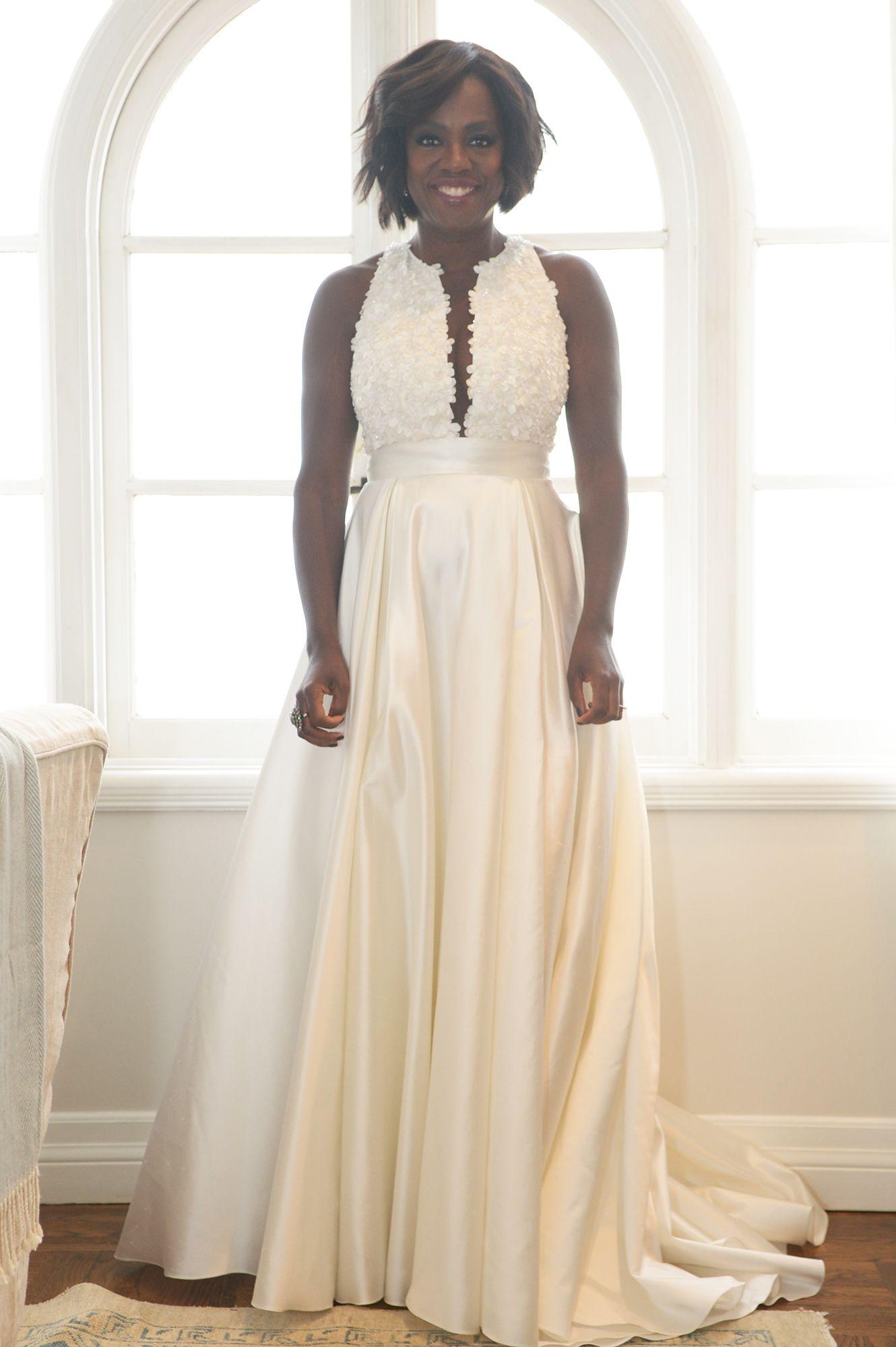 Viola Davis S Wedding Vows Renewal Look Celebrity Wedding Gowns Celebrity Weddings Viola Davis [ 2000 x 1330 Pixel ]