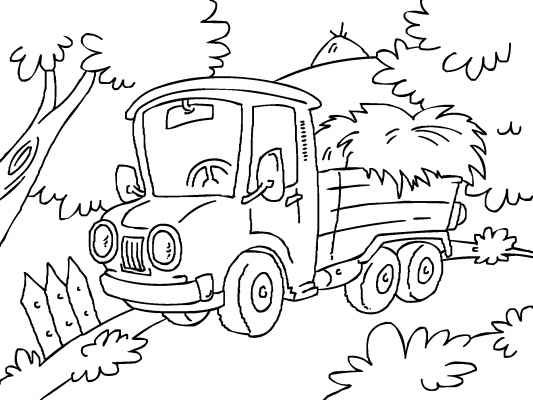 Car And Truck Coloring Book Truck Coloring Pages Coloring Books