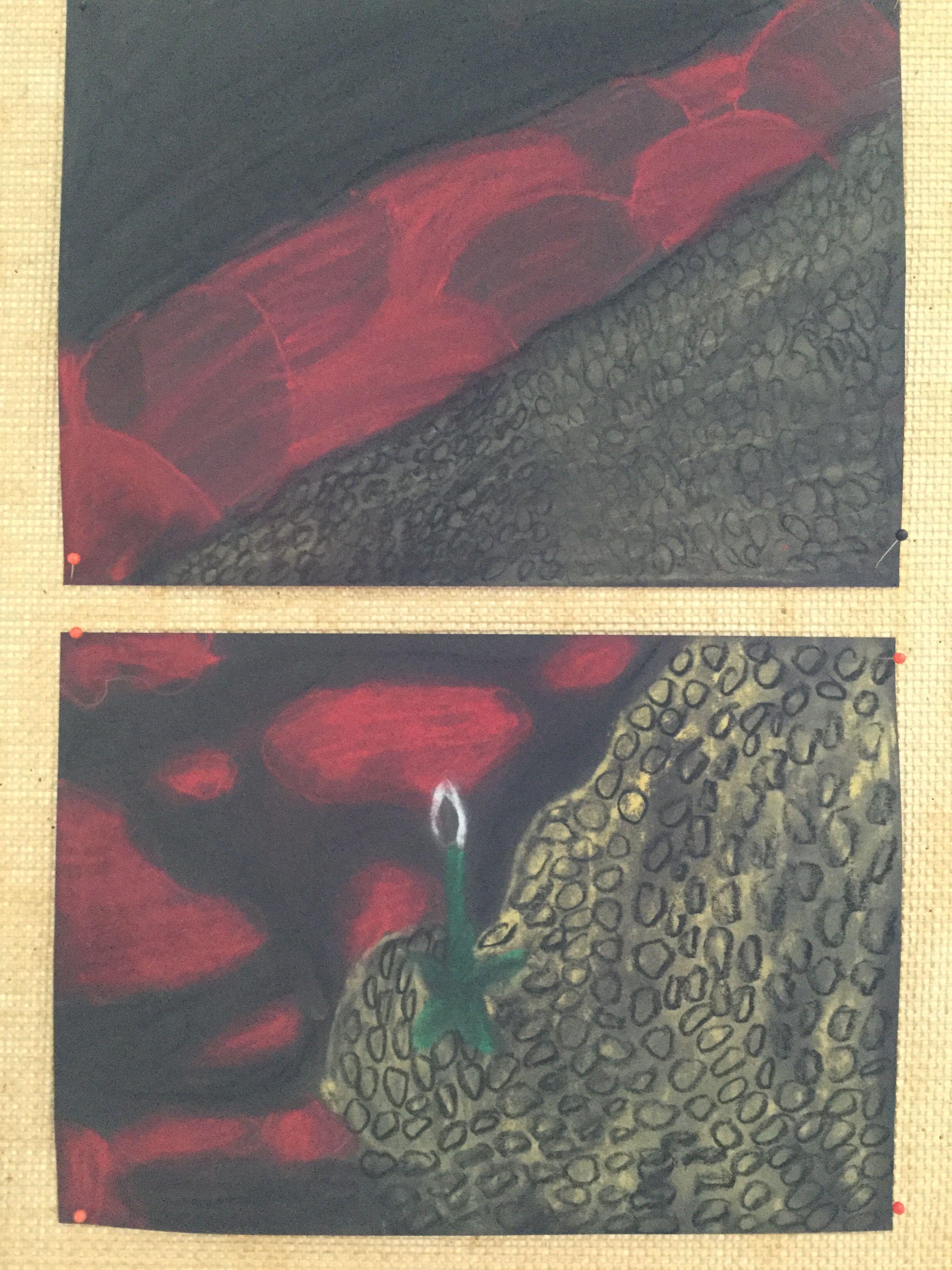 Akseli Gallen-Kallelan Kalevala-taidetta, yksityiskohtia teoksesta Lemminkäisen äiti