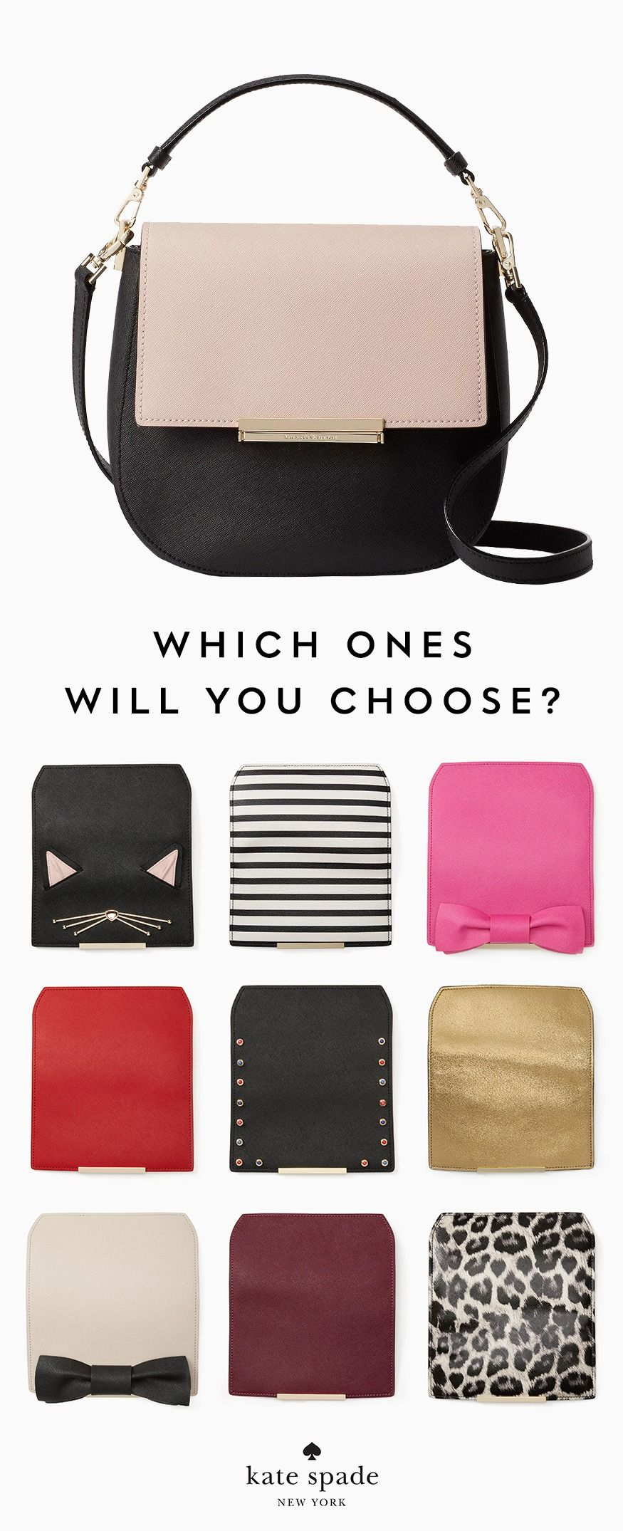 c251fc6129d1 one bag, so. many. options. featuring the make it mine byrdie, with even  more interchangeable flaps. new in the kate spade new york personalization  shop.