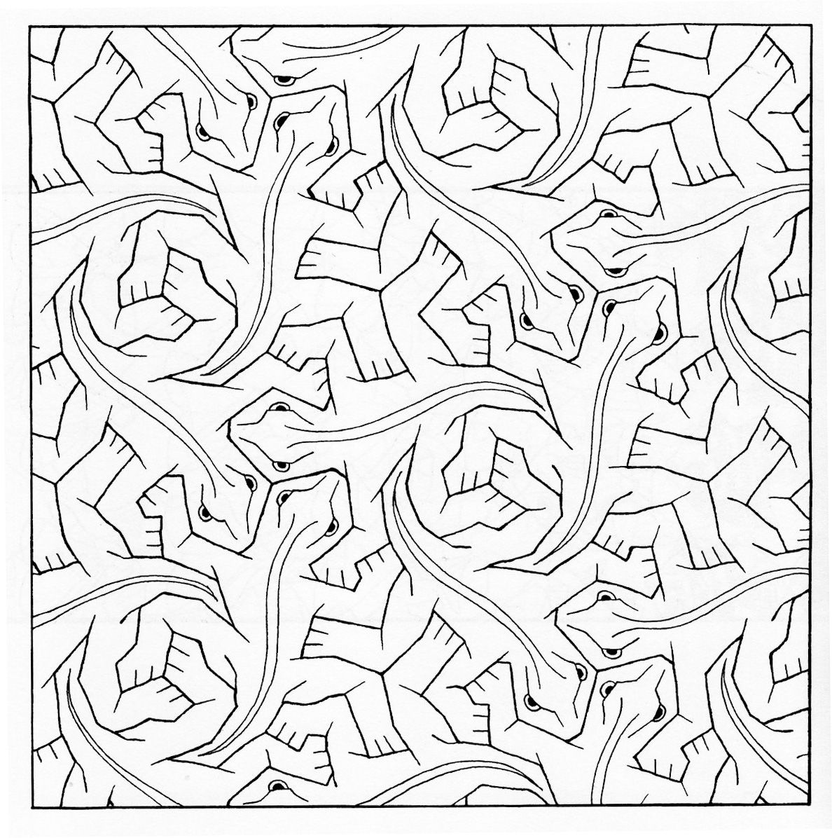 escher printable coloring pages