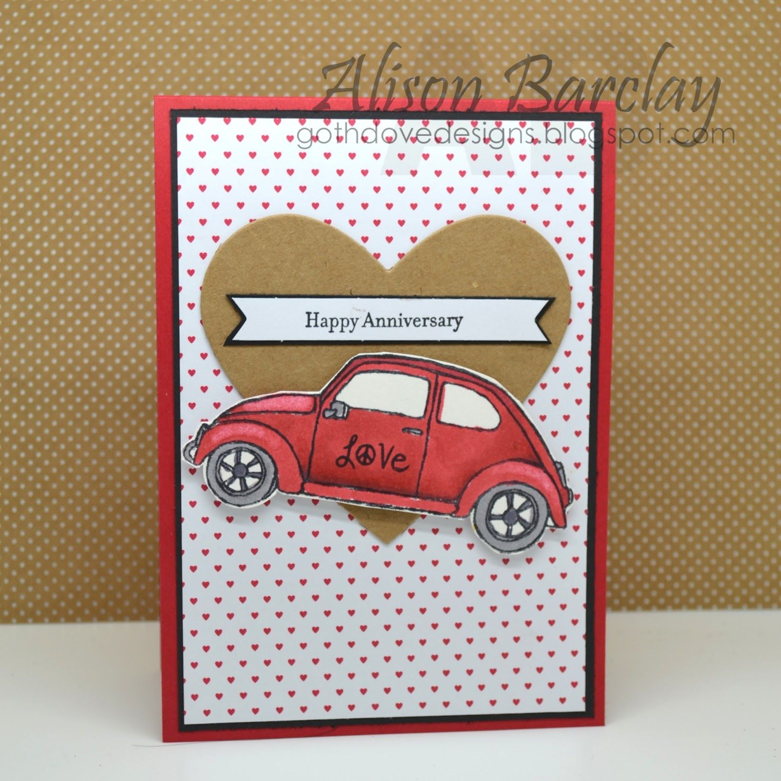 Alison Barclay Stampin Up Australia Stampin Up Australia Stampin Up Beautiful Ride Stampin Up Valentine Cards Paper Crafts Cards Valentines Cards