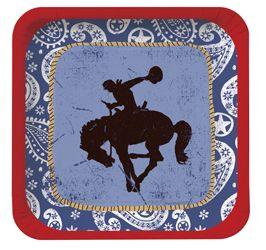 Cowboy Themed Paper Dessert Plates  sc 1 st  Pinterest & Cowboy Themed Paper Dessert Plates | Western Theme Party | Pinterest ...