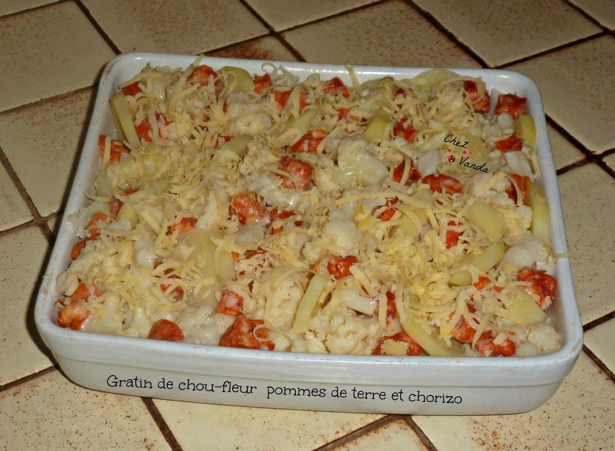 Gratin de chou-fleur , pommes de terre et chorizo (avec images)   Gratin de chou fleur, Gratin ...