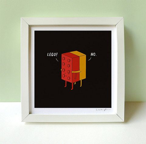 """""""I'll Never Lego"""" print by Heng Swee Lim"""