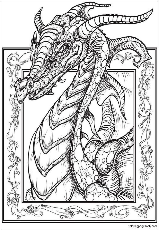 Dragon Head Coloring Page Youngandtae Com Mandala Kleurplaten Kleurplaten Kleurboek