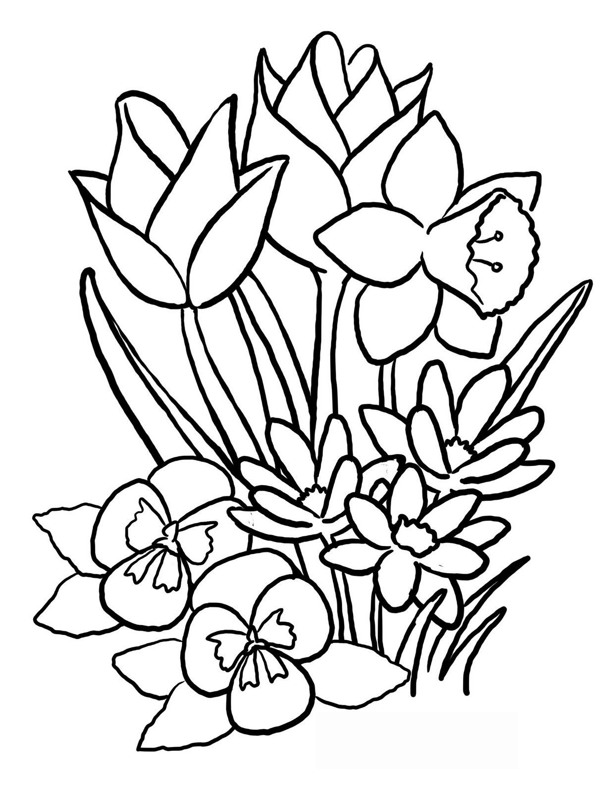 Free Coloring Pages Download Flower Printable For Of