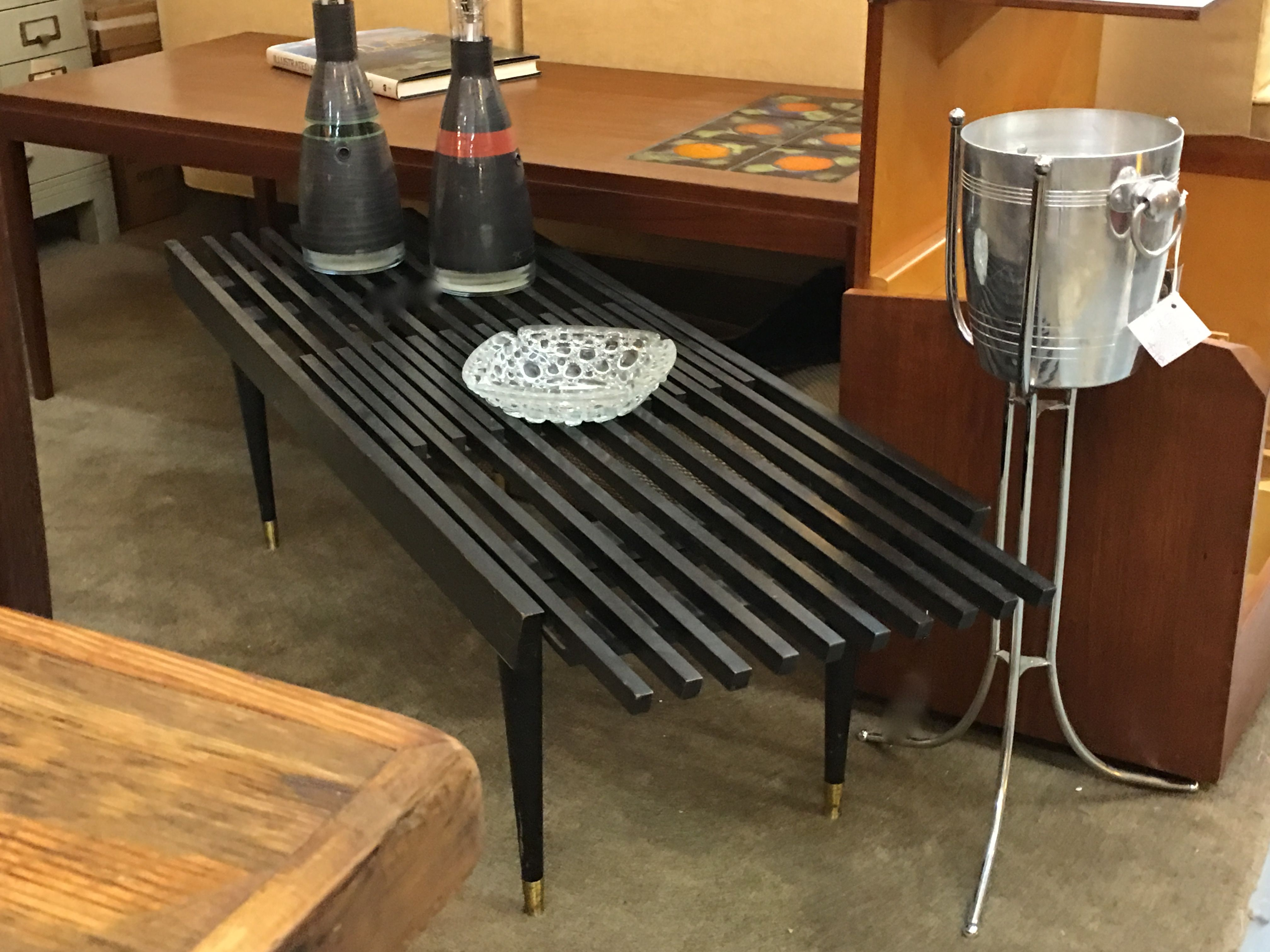 mid century slat wood expanding coffee table 330 mid century dallas
