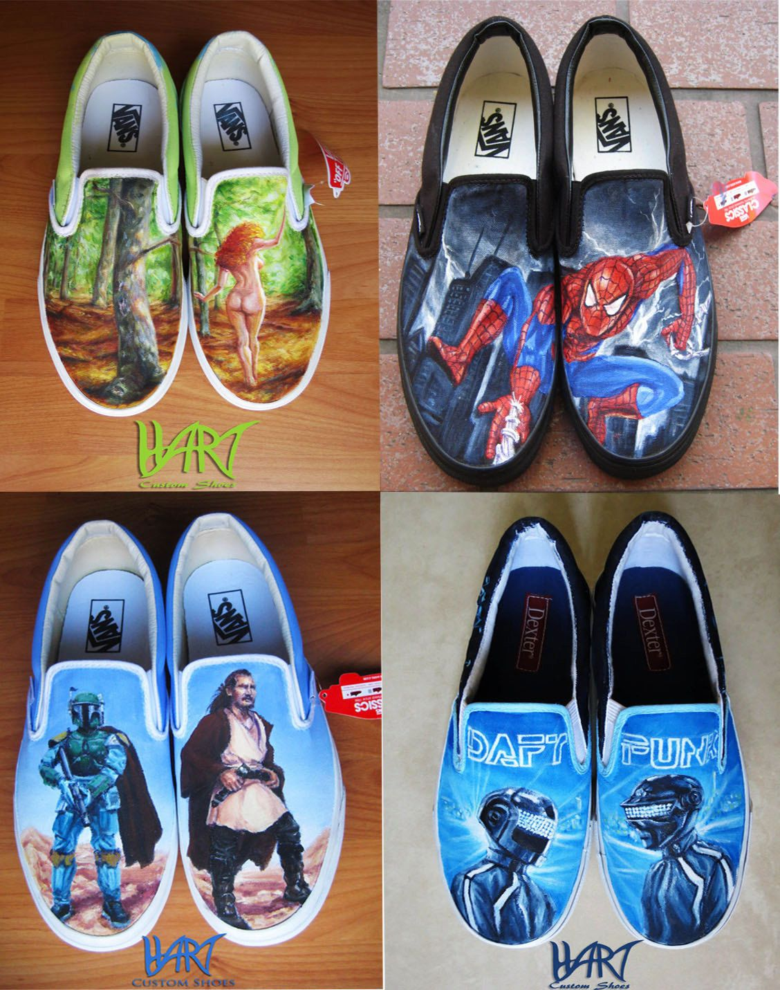 Funny Minivans: Custom Painted Shoes