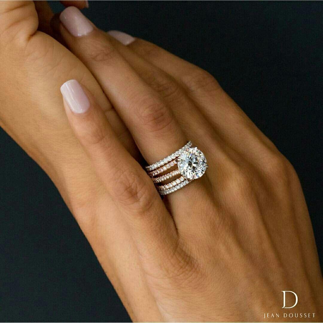 I Adore These Roundweddingrings Rose Engagement Ring Round Engagement Rings Unique Engagement Rings