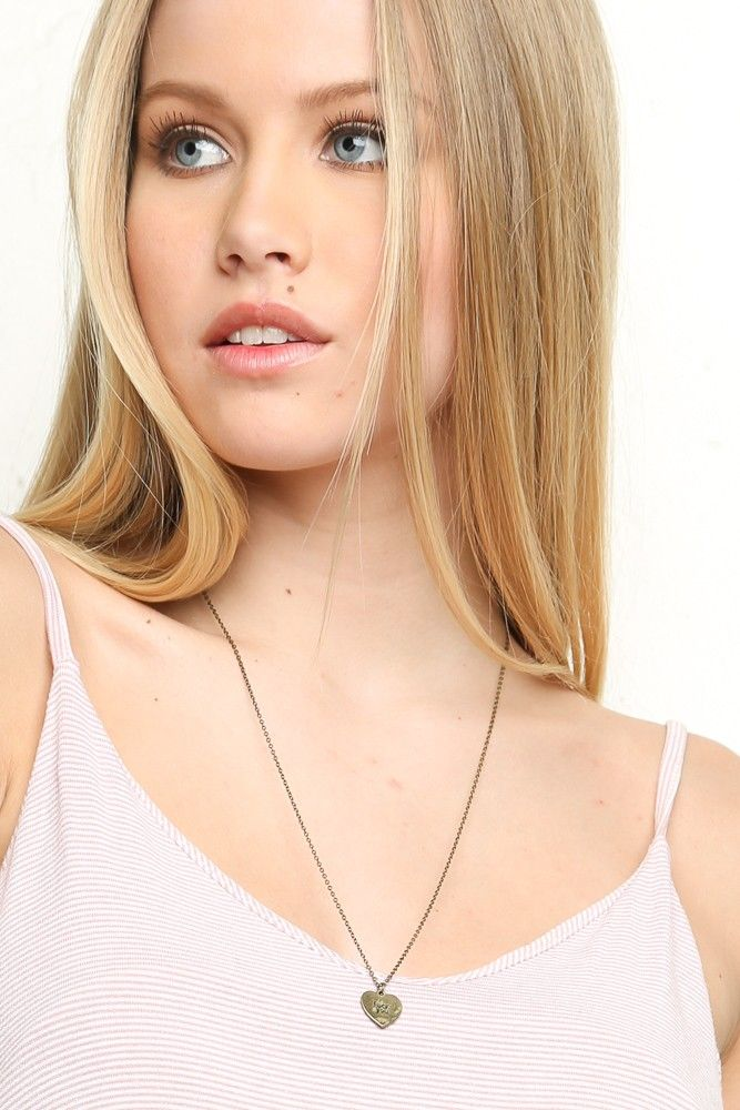 Brandy ♥ Melville | F*ck You Heart Gold Necklace - Necklaces - Jewelry - Accessories $7