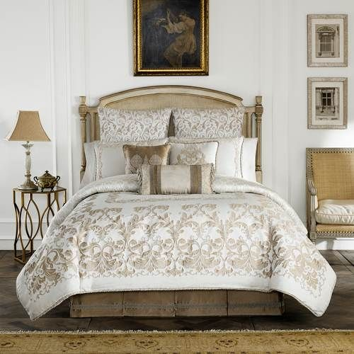 bedding chenille on set comforter bedroom york together medallion king by new lovely with queen j ivory marvelous estate