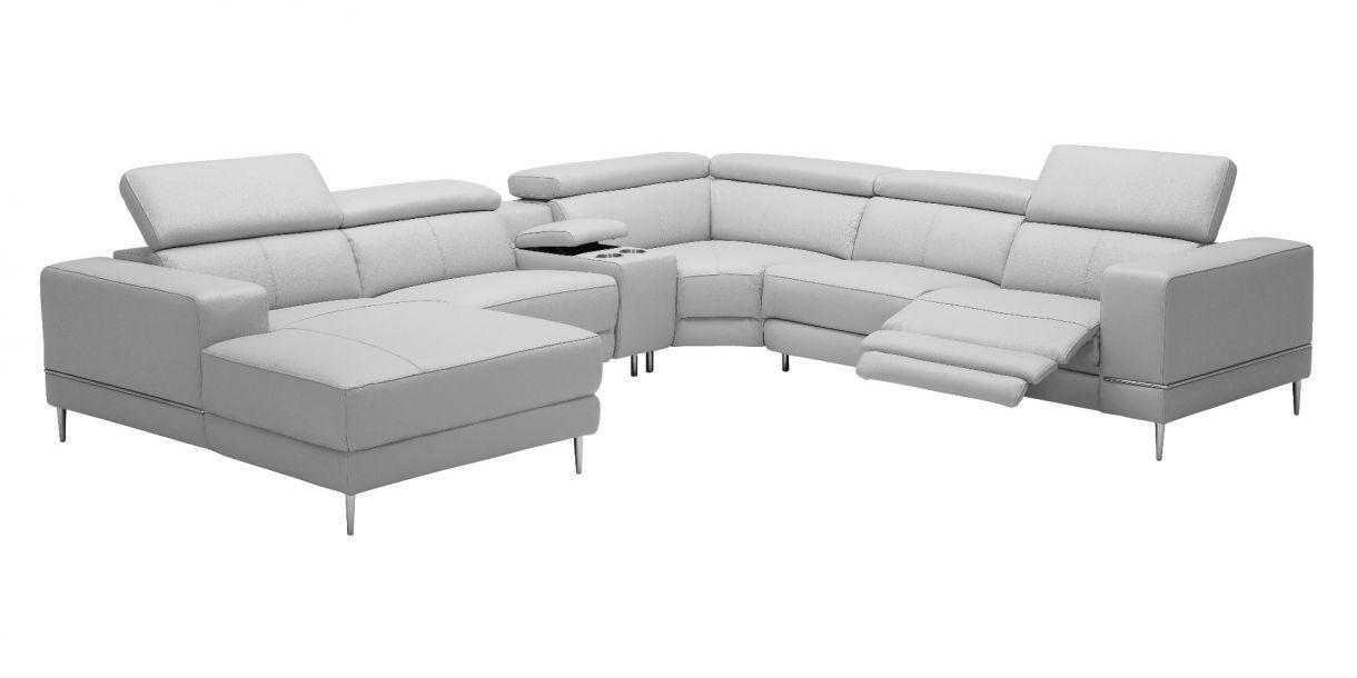 Reverse Bergamo Sectional Motion Sofa Light Gray Sectional Sectional Sofa Sofa