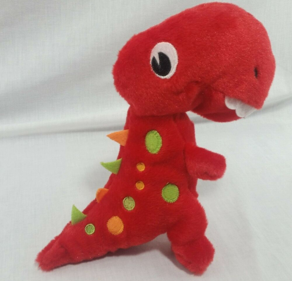 Plush T Rex Dinosaur Stuffed Animal Red Soft Toy