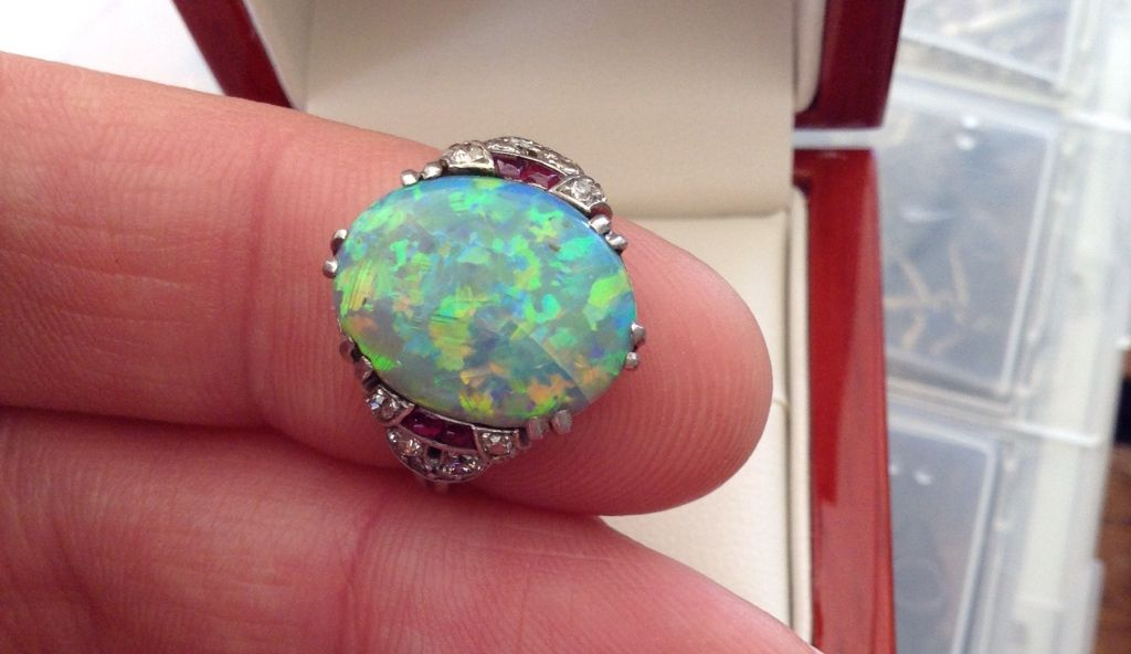 Boucheron opal ring