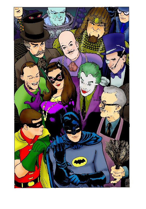 batman 66 | art that i coloured a batman 66 piece by kevin maguire