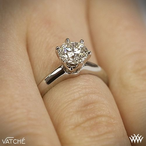 18k White Gold Vatche U113 6Prong Solitaire Engagement Ring