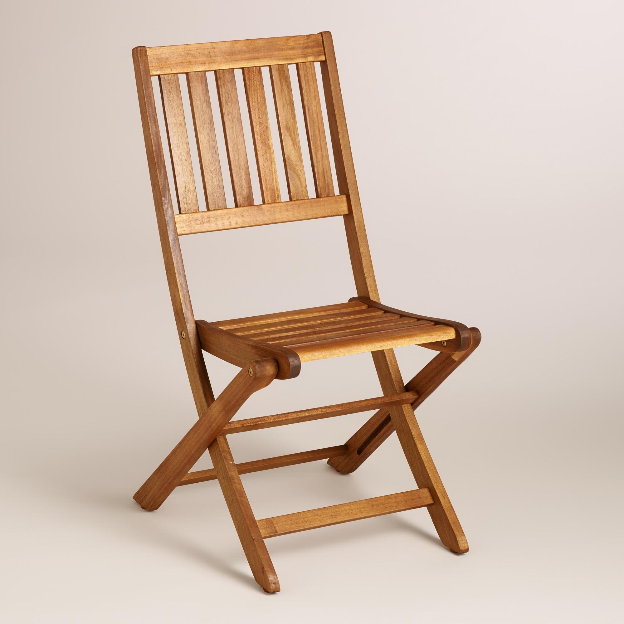 Wood Cameron Folding Chairs Set of 2