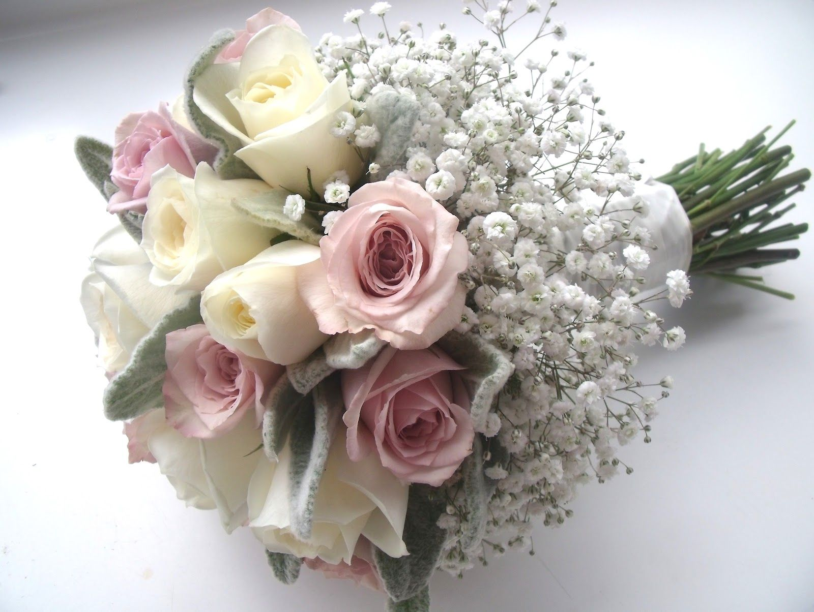 Rose and gyp flower posy bouquet wedding bouquets pinterest