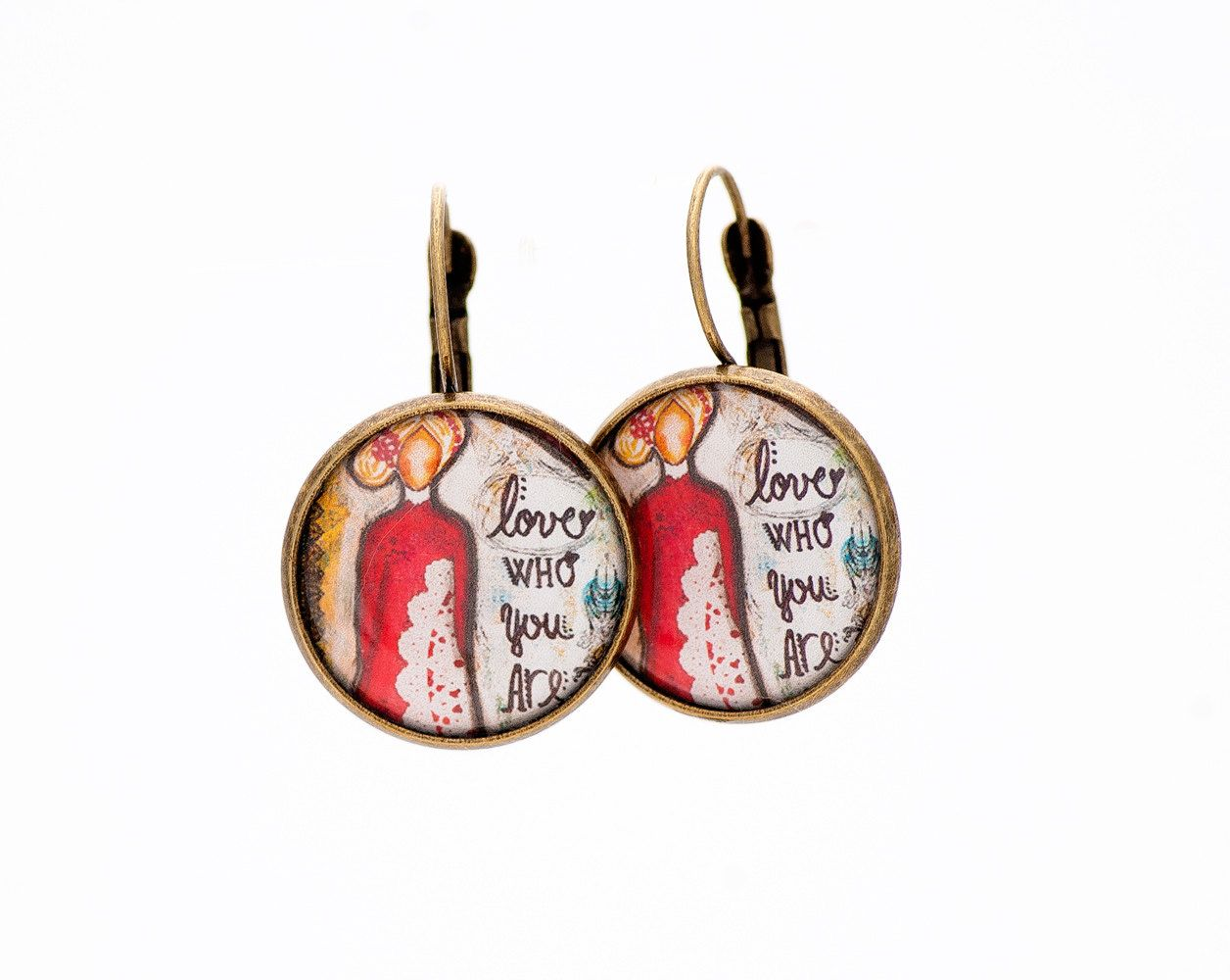 Inspirational Earrings Motivational Gift Self Love Care Positive Affirmation Gifts