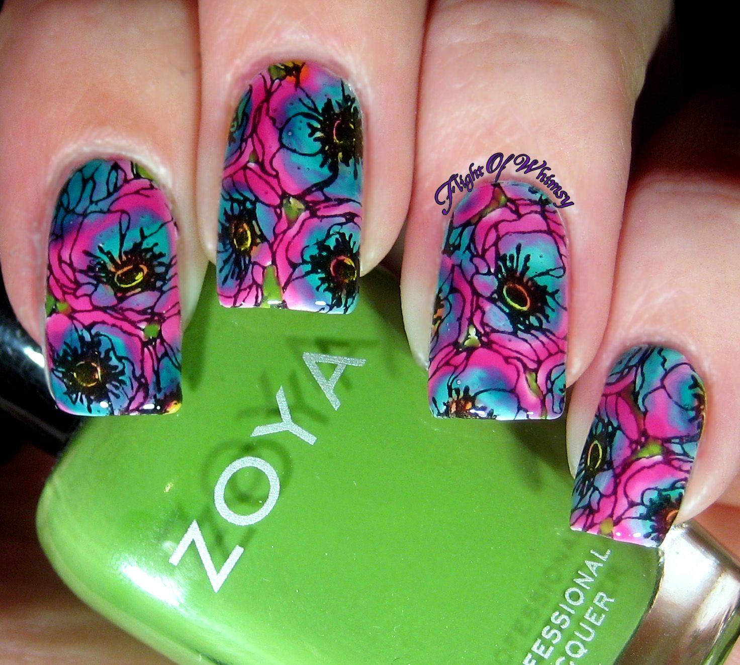 Pink Peonies | Diseños de uñas
