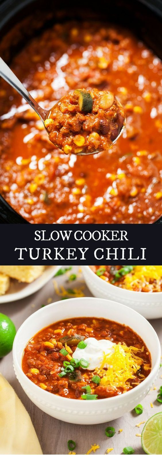 Slow Cooker Turkey Chili | Recipe | Slow cooker turkey ...