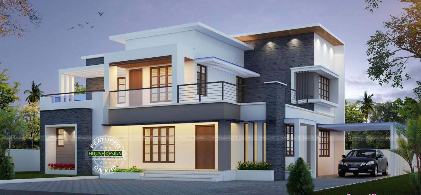 Wonderful Contemporary Inspired Kerala Home Design Plans Flat