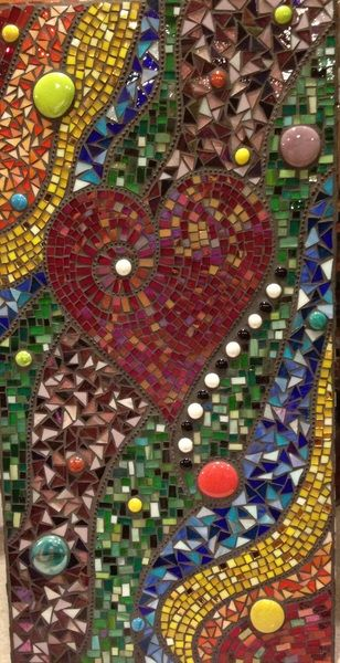 CHERRY RED IRIDESCENT stained glass mosaic tiles SYSTEM 96