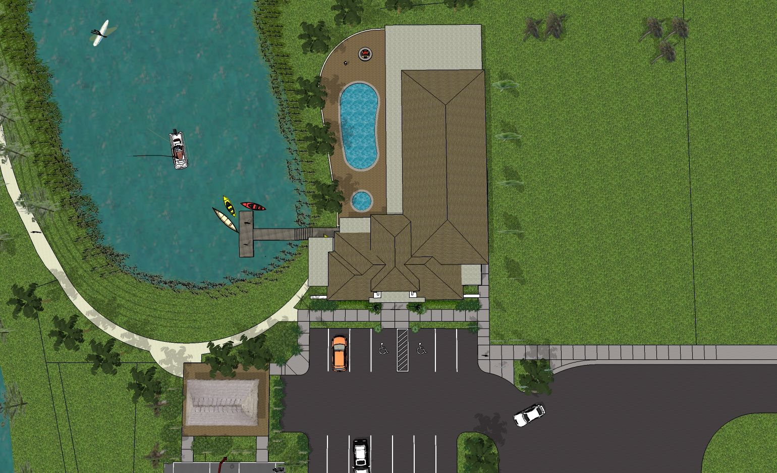clubhouse site plan