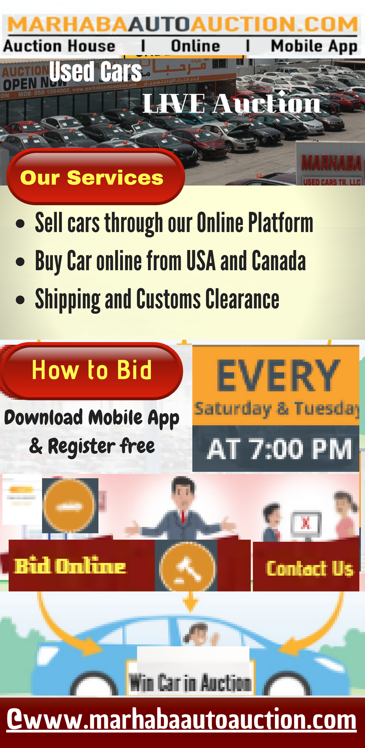 Marhaba Auto Auction Services Sell Cars Through Our Online Platform Buy Car Online From Usa And Canada Shipping And Cust Car Auctions Buy Car Online Sell Car