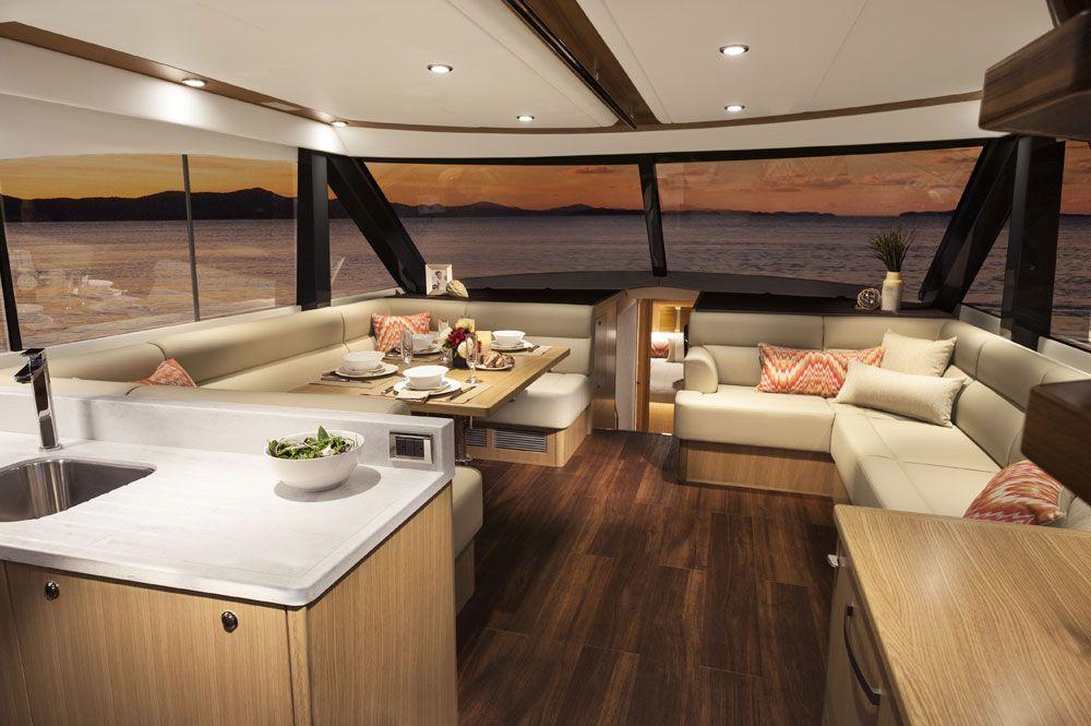 57 Enclosed Flybridge Luxury Yachts Boat Interior Motor Yacht
