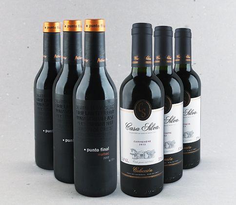 Imperdível caixa de meias garrafas: Punto Final Malbec e Casa Silva Carménère #vinho #carmenere #malbec #mendoza