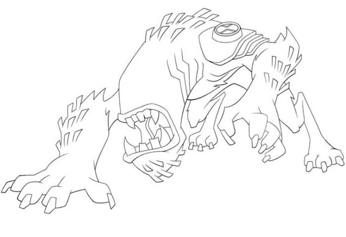 The Aliens Wildmutt Coloring Pages Ben 10 Coloring Pages Kidsdrawing Free Coloring Pages Onl Paginas Para Colorir Ben 10 Para Colorir Flores Para Colorir