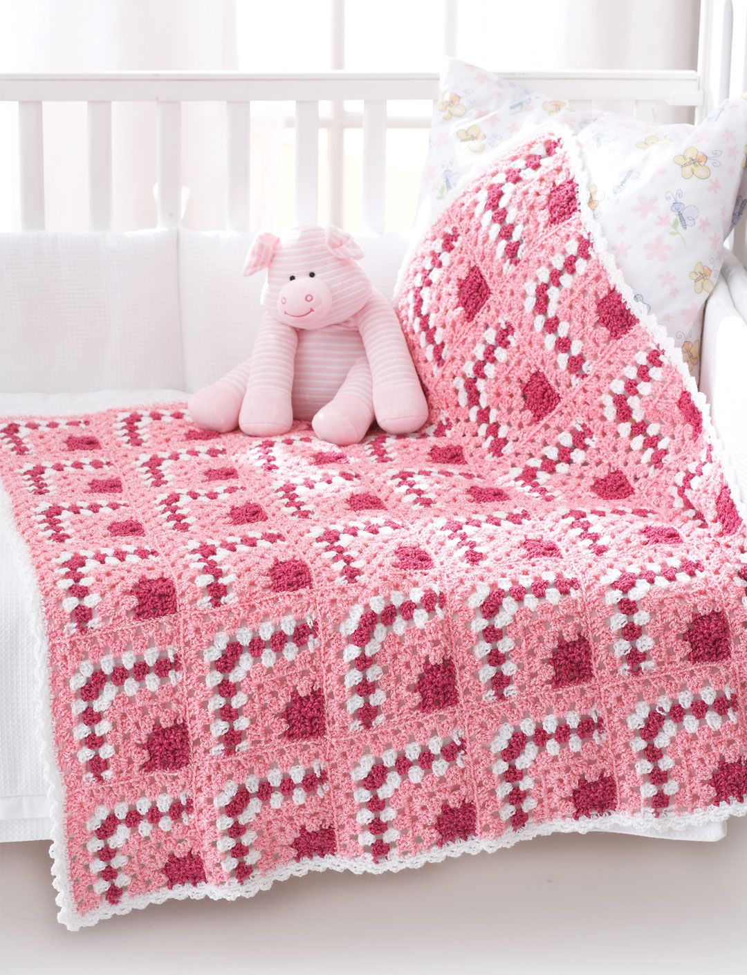 Bernat Baby Blanket Crochet Patterns | Puzzle Blocks Baby Blanket ...