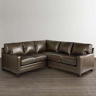 American Casual Ladson Small L Shaped Sectional Modern Couch L Shaped Couch L Shaped Leather Sofa