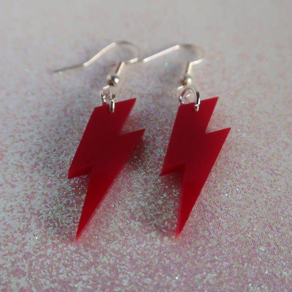 Red Lightening Earrings