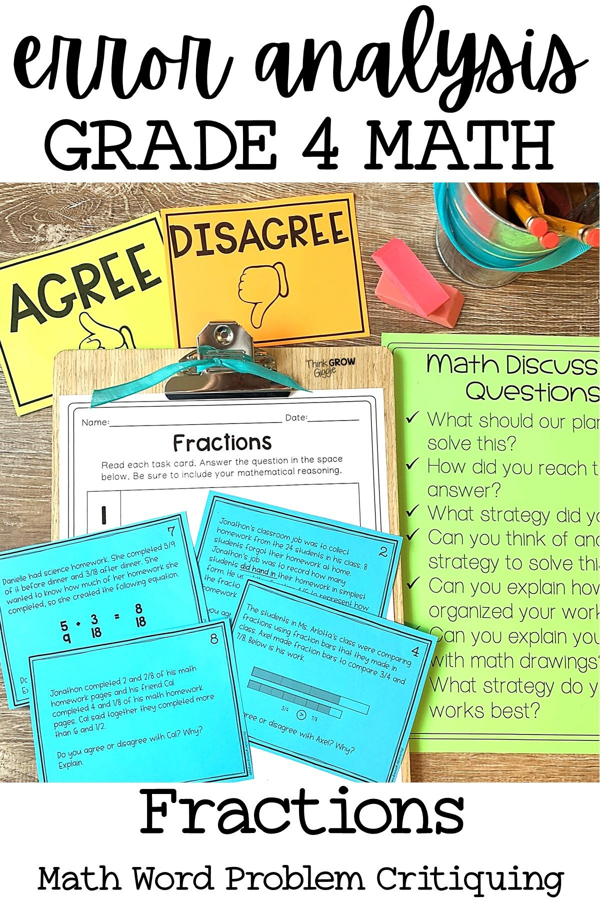 Fractions Errorysis Math Grade 4
