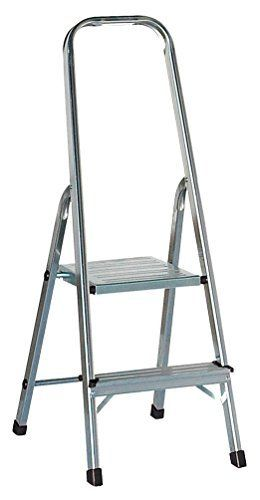 Draak Step Ladder 2 Step Non Slip Treads Ladder Made From Lightweight Aluminium Certified To Bs En 131 Part 13 By Draak Step Ladders Folding Chair Aluminium