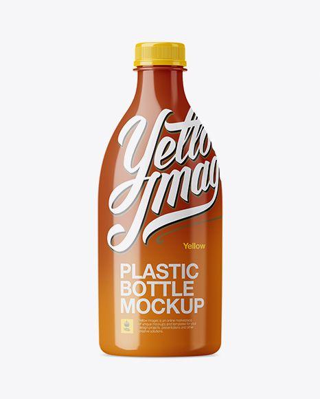 Glossy Plastic Bottle Mockup Preview