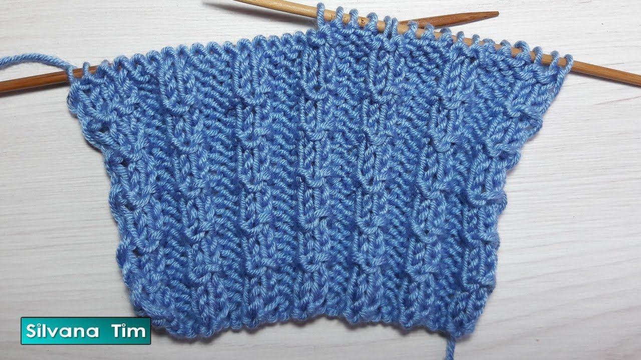 Aprende a tejer: ¿Cómo tejer punto elástico con dos agujas? # 665