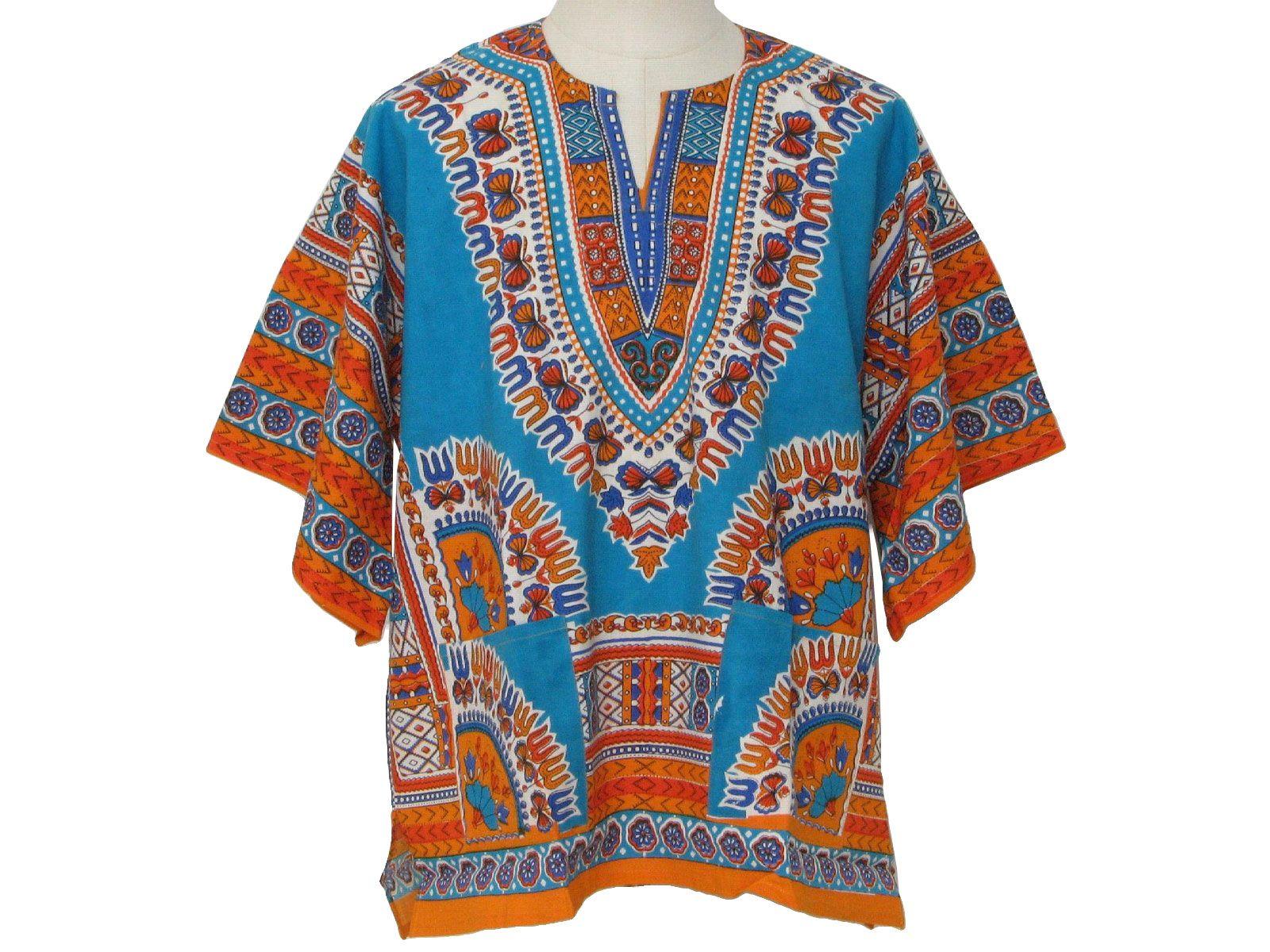 a0e9c7837bf 1970 s Mens Dashiki Shirt in 2019