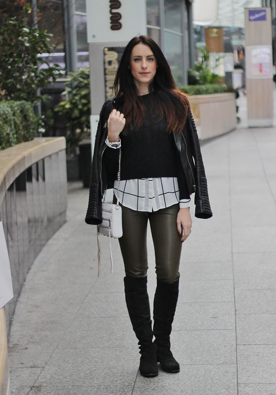 Zara Leather Look Leggings