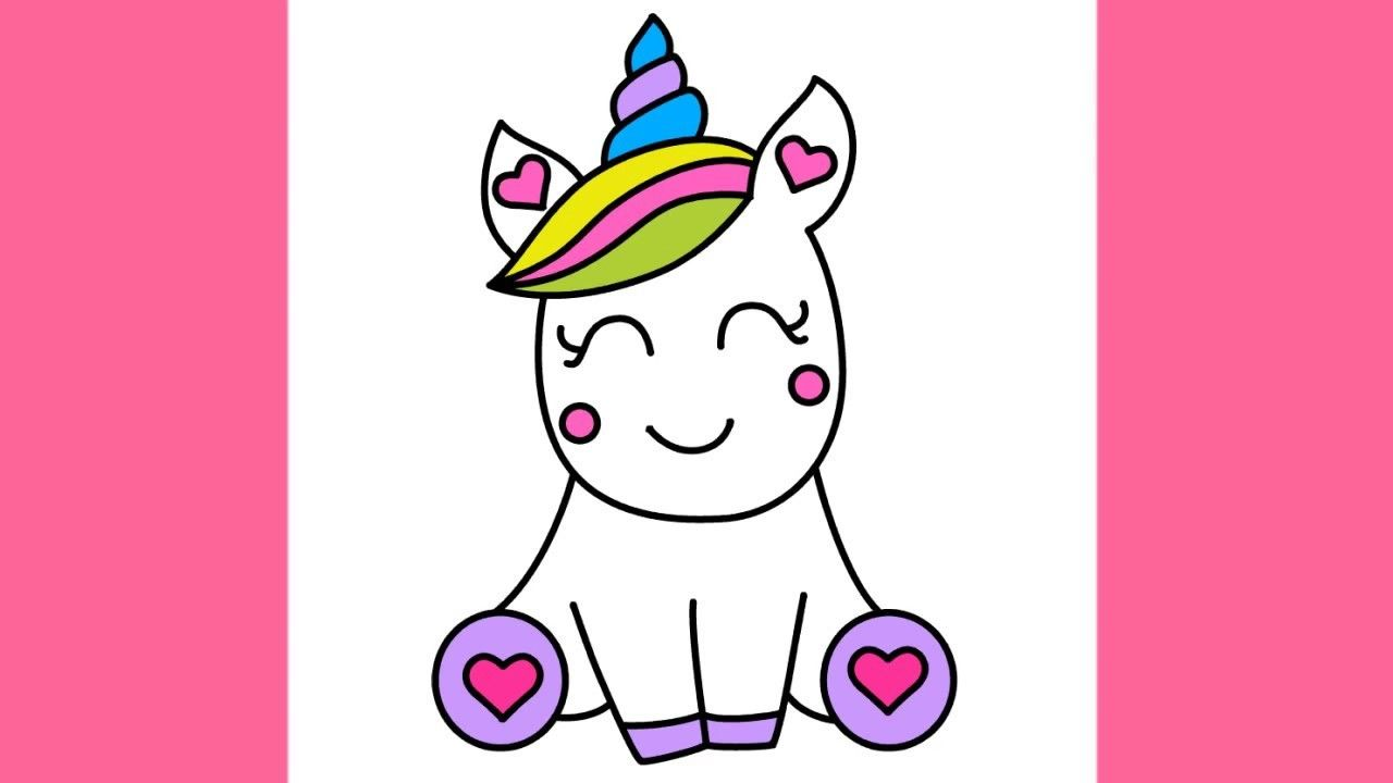 Cute Easy To Draw Unicorns How To Draw Super Cute And Easy Unicorn Drawing Unicorn Art Drawing Easy Drawings
