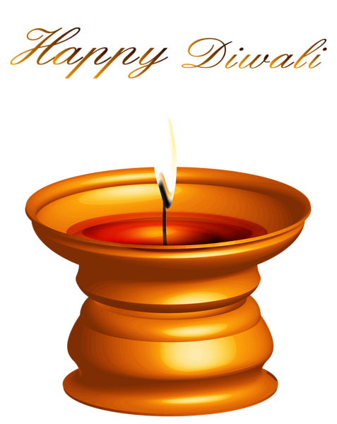 Happy Diwali Candle Decor PNG Clipart Image